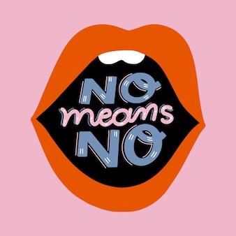 Gender violence lettering concept