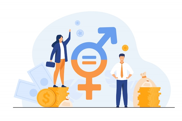 Gender wage equality in business