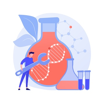 Gene therapy abstract concept vector illustration. genetic cancer treatment, genes transfer therapy, regenerative medicine, experimental approach in oncology, prevent disease abstract metaphor.