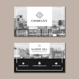General business business card template