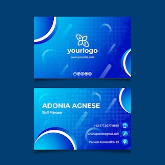 General business double sided business card template