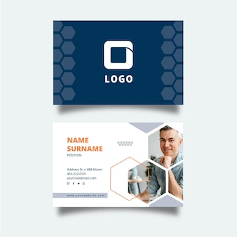 General business double-sided business card template