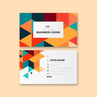Деловая двусторонняя визитка общего назначения Premium векторы