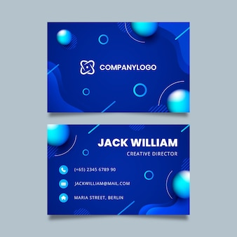 General business double-sided business card