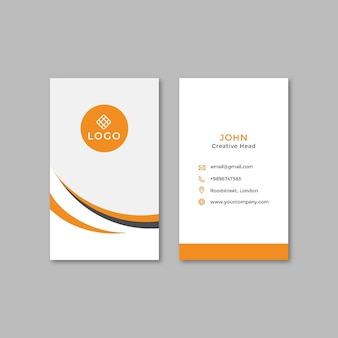 General business double-sided businesscard vertical