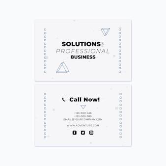Общий бизнес-шаблон двусторонней горизонтальной визитки