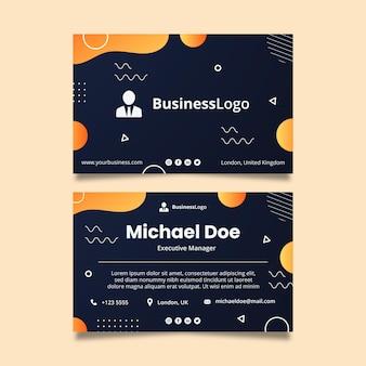 一般的なビジネス両面水平ビジネスカードテンプレート