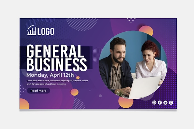 General business horizontal banner template