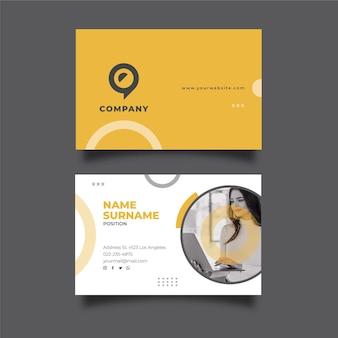 Общий бизнес-шаблон горизонтальной визитки