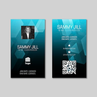 General business id card template