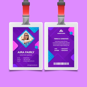 General business id card template Free Vector