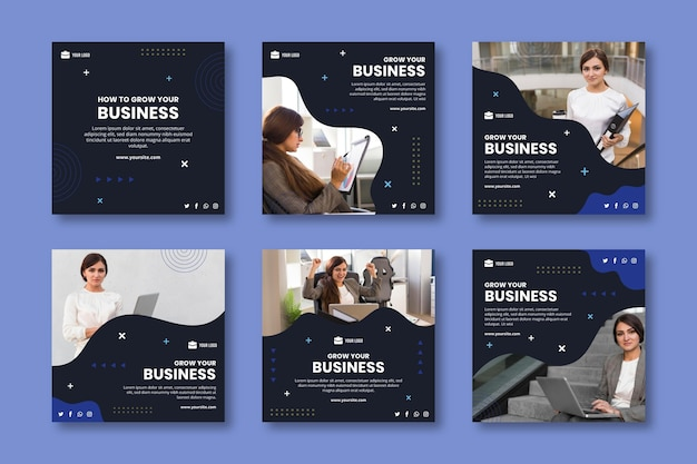 General business instagram post template