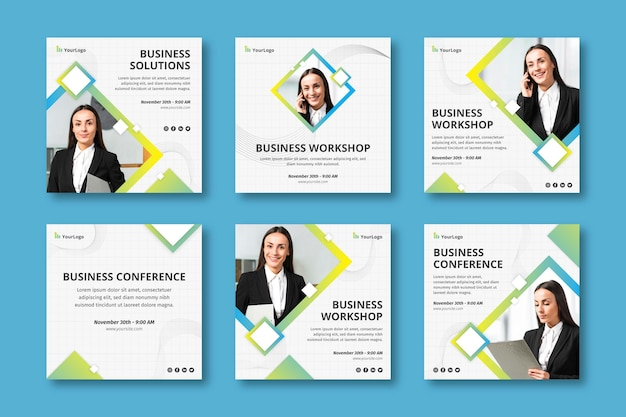 General business instagram posts corporate template