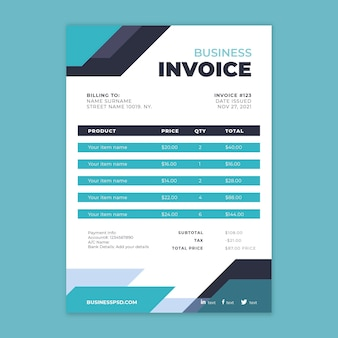 General business invoice template