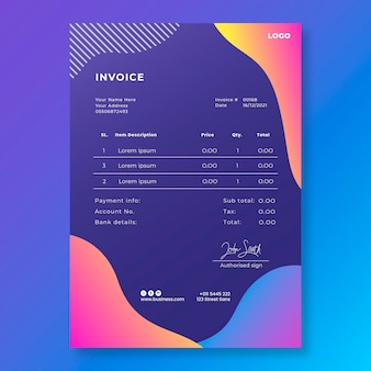 General business invoice