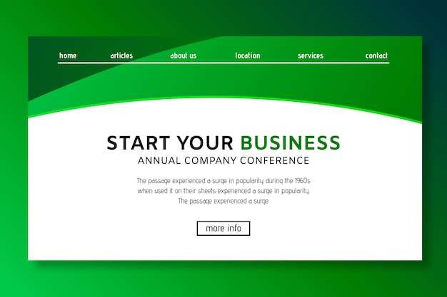 General business landing page template
