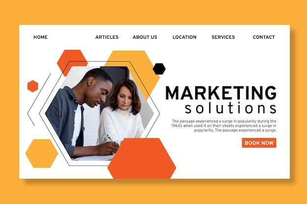 Modello di pagina di destinazione aziendale generale