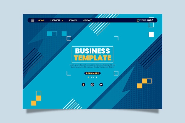 General business landing page