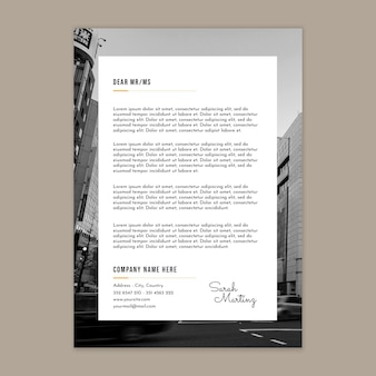 General business letterhead template