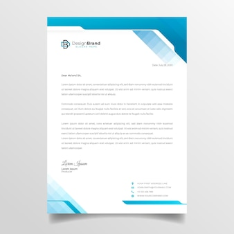 General business letterhead