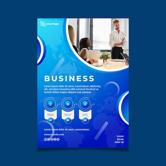 General business poster template with photo