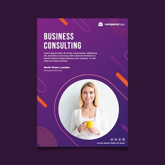 General business poster template