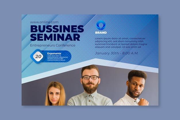 Modello web banner seminario di affari generali