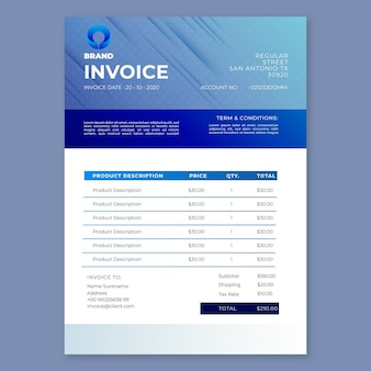 General business seminar invoice template