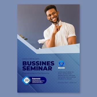 Modello di poster seminario di affari generali