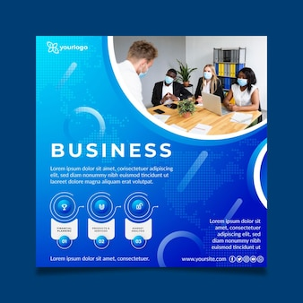 General business square flyer template