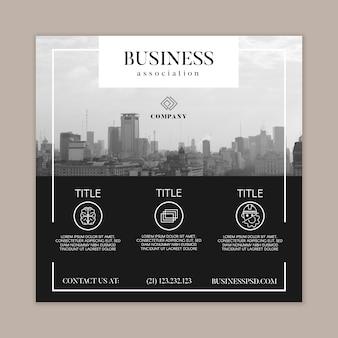 Общий бизнес квадратный флаер шаблон