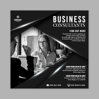 General business squared flyer