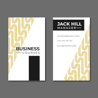 Общая бизнес-вертикальная визитка