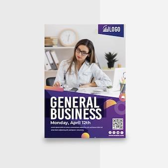 Modello di volantino verticale di affari generali