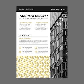 Общий бизнес вертикальный флаер шаблон