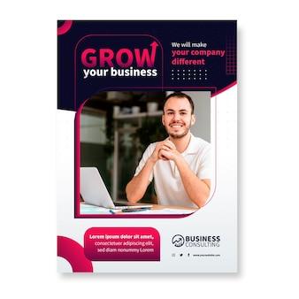 General business vertical flyer template