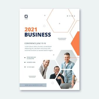 Общий бизнес вертикальный шаблон плаката