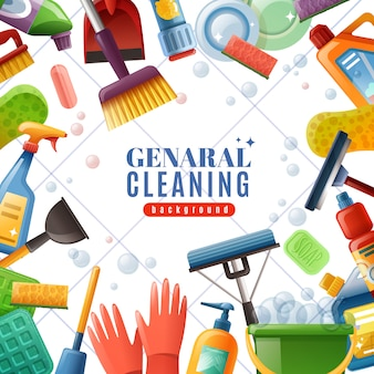 General cleaning frame