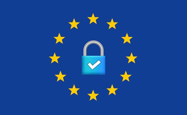 General data protection regulation gdpr. internet european safety. privacy secure data protection.