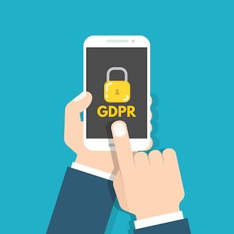 Общее положение о защите данных - gdpr. векторная иллюстрация