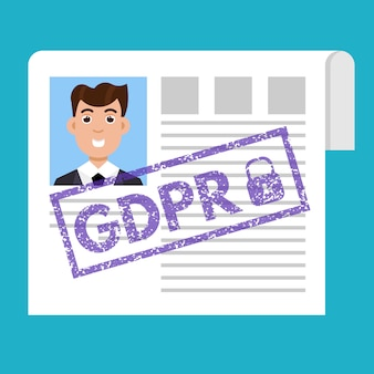 General data protection regulation - gdpr. vector illustration