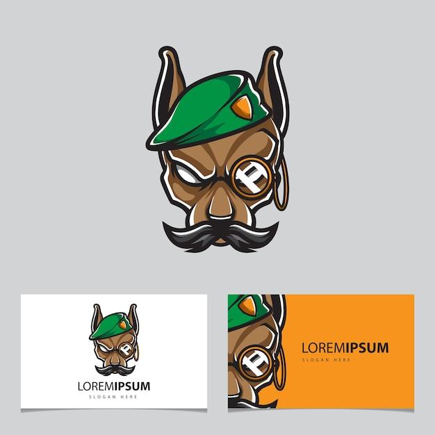 Логотип талисмана армии генерала собаки