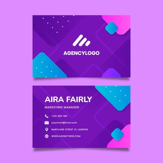 General double-sided business card