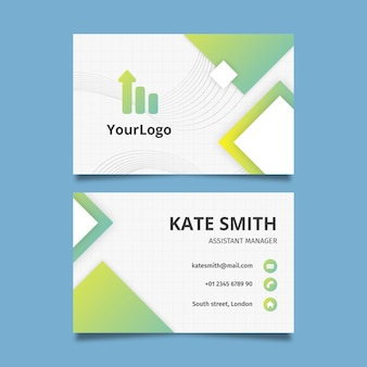 General double-sided horizontal business card template