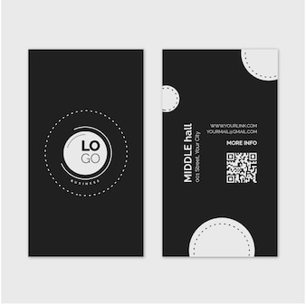 General double sided vertical business card template