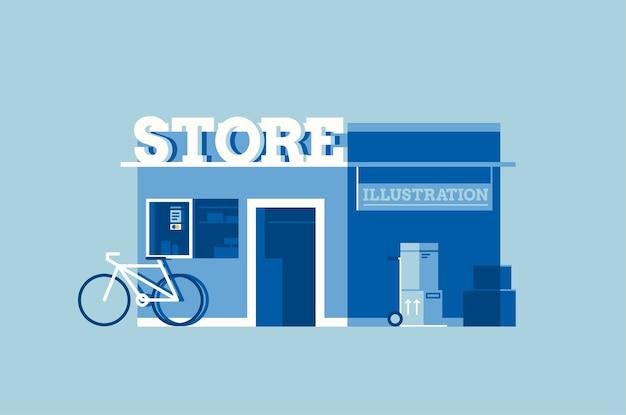 一般的な店のイラスト