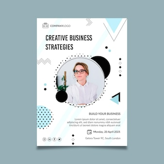 General vertical business flyer template