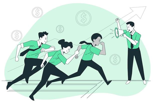 Generazione di nuova illustrazione del concetto di lead