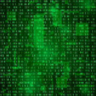 Generation of random binary data.  coding information. matrix  background.  illustration
