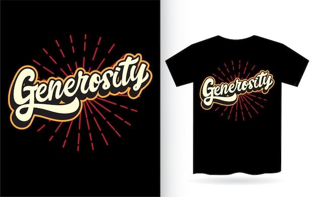 Tシャツの寛大なレタリングデザイン